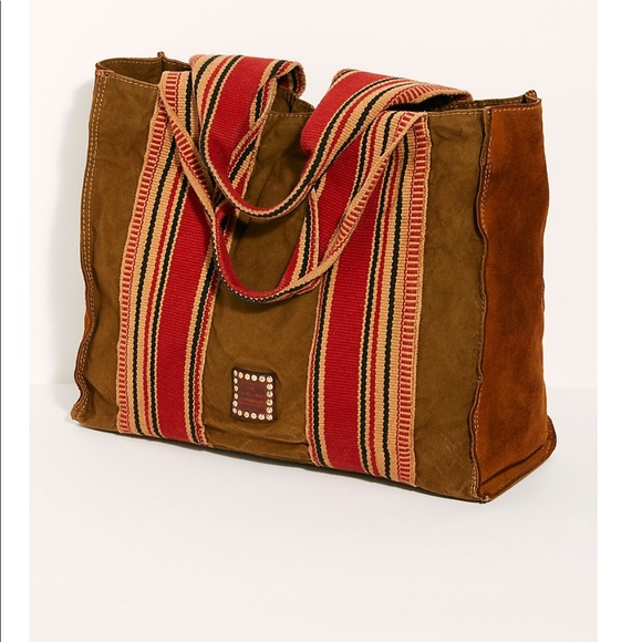 bester Lieferant am besten geliebt Junge NEW campomaggi distressed canvas leather tote NWT